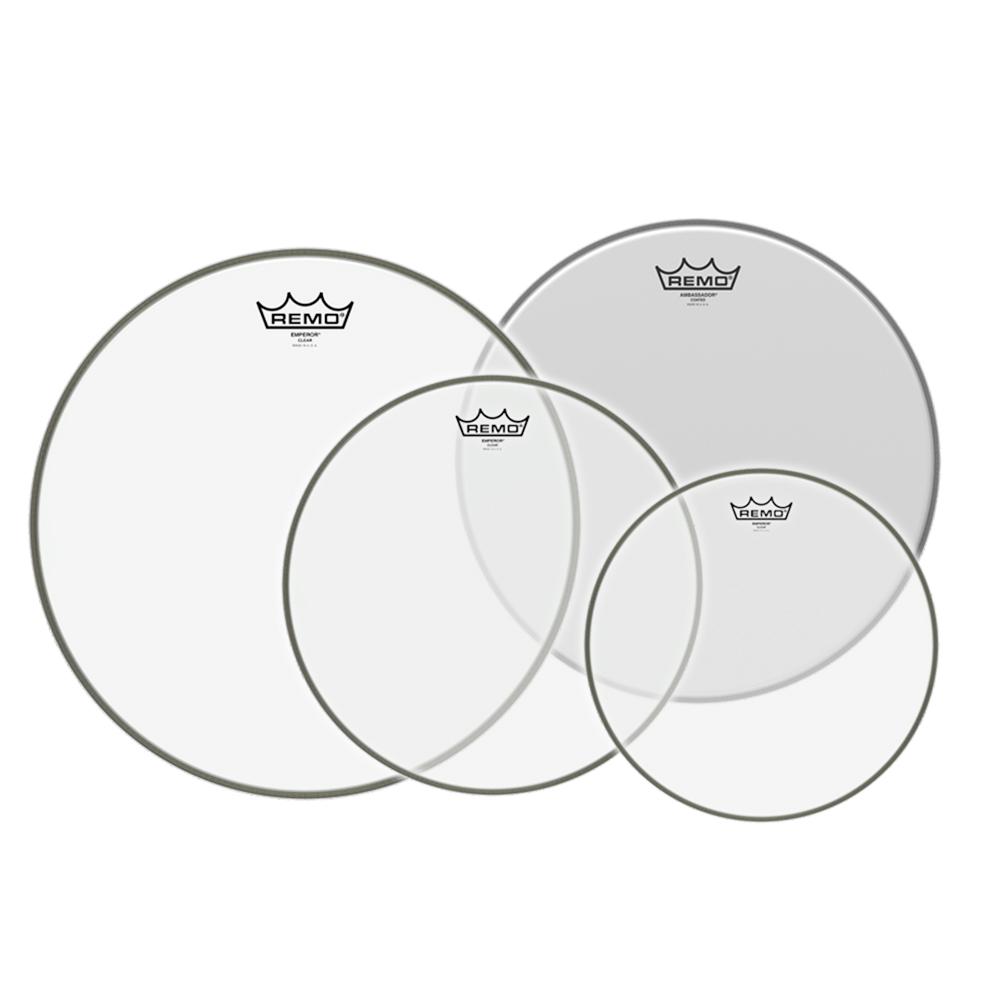 """REMO Emperor 드럼헤드 할인 패키지 10.12.14.16"""" (Emperor+Ambassador) /PP-1860-BE"""